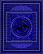Inner Harmony Posters - FLAMINGO POWER - Blue Version Poster by Mimulux patricia no