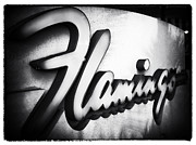 Las Vegas Artist Prints - Flamingo Sign Print by John Rizzuto