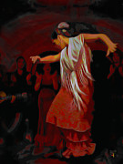 Flamenco Digital Art - Flamma by Byron Fli Walker