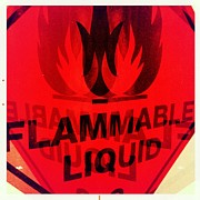 Double Exposure Framed Prints - Flammable Liquid Framed Print by Marco Oliveira