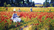 Ww1 Paintings - Flanders fields where soldiers sleep and poppies grow by Reproduction