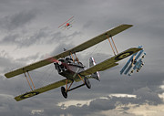 Biplane Art - Flanders Skies by Pat Speirs