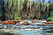 Falls Paintings - Flap Jack River I by John W Walker