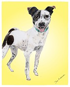 Animal Shelter Mixed Media - Flapjack - a former shelter sweetie by Dave Anderson