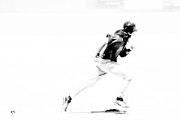 Black And White Baseball Posters - Flash Poster by Karol  Livote