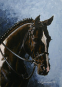 Show Horse Paintings - Flash by Richard De Wolfe