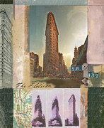 Featured Mixed Media Prints - Flat Iron  Print by Andrew Sullivan
