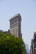 Broadway Digital Art Metal Prints - Flat Iron Building Metal Print by Bill Cannon