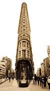 5th Ave. Prints - Flat Iron Building in NYC Print by John McGraw