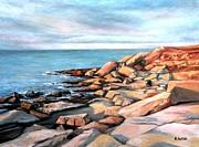 Flat Rocks Print by Eileen Patten Oliver