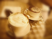 Artography Photos - Flat White and Mocha by Stephen Lawrence Mitchell