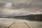 Wooden Dock Prints - Flathead Lake Print by Juli Scalzi