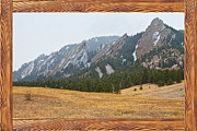 Home Walls Art Prints - FlatIron Barn Wood Picture Window Frame View Print by James Bo Insogna