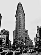 Flatiron Framed Prints - Flatiron Black And White Framed Print by Benjamin Yeager