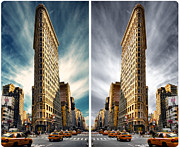 New York City Pyrography Acrylic Prints - Flatiron Building  Acrylic Print by AHcreatrix