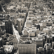 Black And White Photography Metal Prints - Flatiron Building - New York City Metal Print by Thomas Richter
