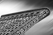 Black And White. Mono. Monochromatic Posters - Flatiron Building NYC Poster by John Farnan