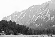 Flatirons Posters - Flatiron in Black and White Boulder Colorado Poster by James Bo Insogna