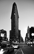 Nyc Pyrography Framed Prints - Flatiron Framed Print by Paslier Morgan