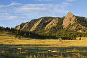 Colorado Nature Landscape Framed Prints - Flatirons from Chautauqua Park Framed Print by James Bo Insogna