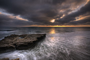 High Dynamic Range Photo Prints - Flatrock Print by Peter Tellone