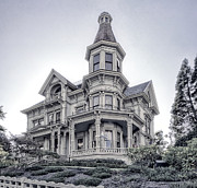 The Haunted House Photo Prints - Flavel Victorian Home Print by Daniel Hagerman