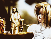Eery Posters - Flea Market Series - Doll and Jesus Poster by Marco Oliveira