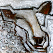 Sheep Mixed Media - Fleecy by Cindy Suter