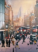 Joe Gilronan Art - Fleet Street by Raymond Alfred Gilronan