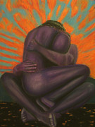 Couple Pastels Prints - Fleeting Embrace Print by D Rogale