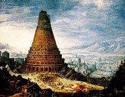 High Society Prints - Flemish The Tower of Babel Baroque Print by MotionAge Art and Design - Ahmet Asar