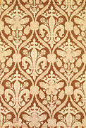 Yellow Tapestries - Textiles Prints - Fleur-de-Lis Print by Augustus Welby Pugin