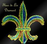 Fleur De Lis Diamant Print by Barbara Chichester