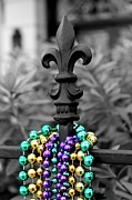 Fleur De Lis With Beads Print by Candace Cargo