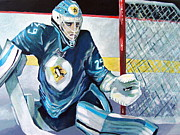 Ice Hockey Paintings - Fleury Fleury Fleury by Philip Kram