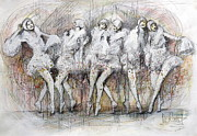 Ballet Dancers Originals - Flight Dancers by Gregory DeGroat