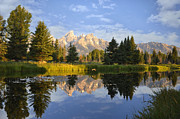 Reflections In River Prints - Flight in the Tetons Print by Rob Hemphill