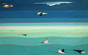 Albatross Paintings - Flight In Two Fluids - Main Panel by Kevin Schrader