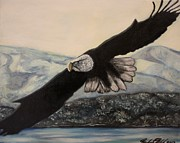 American Eagle Paintings - Flight by Michael Kulick