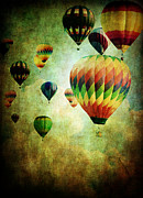 Dreamlike Framed Prints - Flight of the Balloons  Framed Print by Stephanie Frey