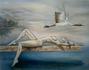 Classics Paintings - Flight by Tania Baeva