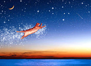 Constellations Digital Art Prints - Flight to Sagittarius Print by Kathleen Horner