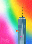 Wtc Digital Art Metal Prints - Flights of Fantasy Metal Print by Nishanth Gopinathan