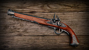 Antique Weapon Posters - Flintlock Blunderbuss Pistol 1 Poster by Paul Ward