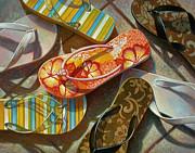 Flip Flops Print by Mia Tavonatti