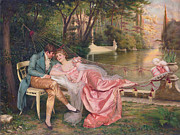 Victorian Digital Art - Flirtation by Frederick Soulacroix