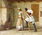 Greek Artists - Flirtation by Theodoros Rallis