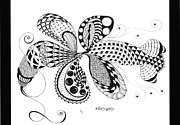 Dragon Fly Drawings Posters - Flirty-girty Poster by Sherri Vanschaick