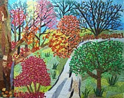 Autumn Trees Tapestries - Textiles Prints - Fll Ensemble Print by Charlene White