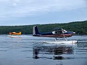 Float Planes On Keuka Print by Joshua House
